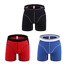 3 Pieces Comfy Cotton Breathable U Convex Boxers Briefs For Men
