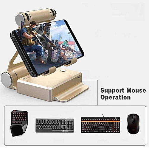 LEBAIQI Sway Portable Phone Holder Eat Chicken game,Android 4 0 or above /  iOS 7 0 or above Gamepad Joystick Controller for PUBG, FPS games, Using