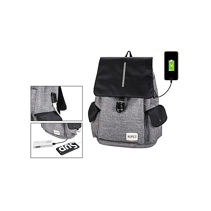 unisex hair styles neworldline unisex usb rechargeable backpack school travel 2469