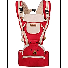 Breathable Hipseat Baby Carrier - Red