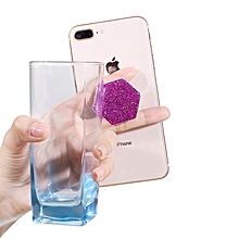 Finger Ring Holder Hexagon Glitter Mobile Phone Ring Holder Telescopic Pop Grip Extending Stand For iPhone Samsung Air Bag LIMEI