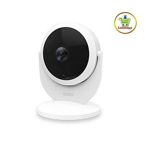 Xiaomi Mijia Aqara Smart IP Camera Smart Linkage Alarm 180 Degree 1080P HD  Home Security Camera - Gateway Edition (White) WKMALL