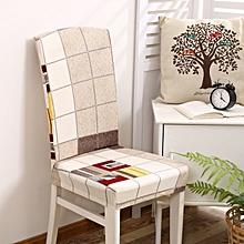 Honana WX-913 Elegant Plaids Stripes Elastic Stretch Chair Seat Cover Dining Room Home Wedding Decor