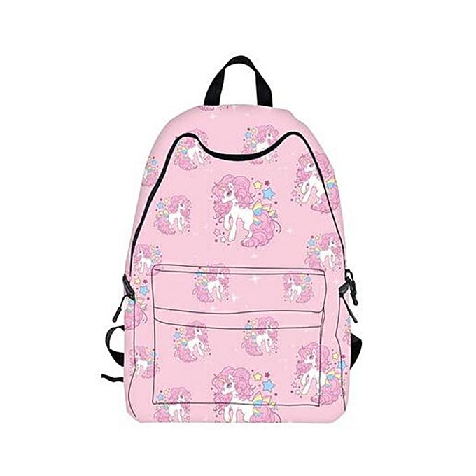 f1a8356a9301 Fashion Unicorn Backpack Student Bag Schoolbag Travel School Fantasy  Rucksack