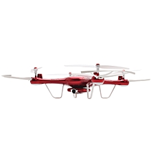 X5UW WiFi FPV Control HD CAM 2.4G 4CH 6-axis-gyro RC Quadcopter Air Press Height Hold - Red