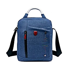Business Casual Style Men's Backpack Laptop Bag -Blue