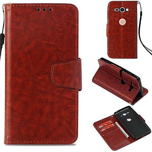 super popular 8683b 94b0a PU Leather Wallet Case Cover for Sony Xperia XZ2 Compact