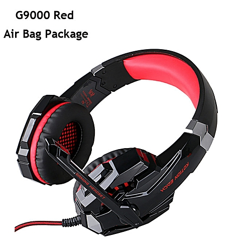 G2000 G4000 G9000 Gaming Headphones Deep Bass Wired Headsets with Mic Led  Light Earphones for PS4 New Xbox Laptop PC Gamer(G9000 RED)