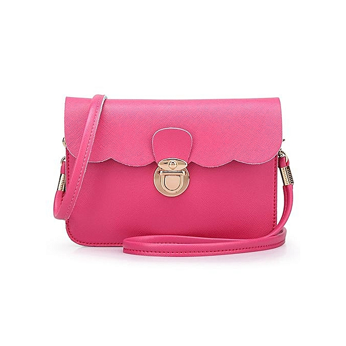 2e7bbbfdb12b bluerdream-Womens Leather Shoulder Bag Clutch Handbag Tote Purse Hobo  Messenger HP-Hot Pink