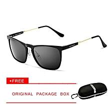 474a4ab44952 VEITHDIA Mens Square Retro Aluminum Sunglasses Polarized Blue Lens Vintage  Eyewear Accessories Sun Glasses for Men