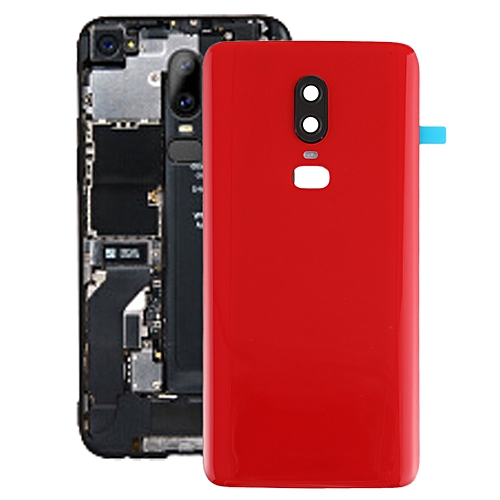 online store b9d3b 75b59 Battery Back Cover for OnePlus 6(Red)