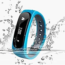 E02 Waterproof Fashion Bluetooth Smart Activity Tracker Bracelet(Blue)