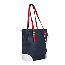 Navy Blue Hobo Style Handbag