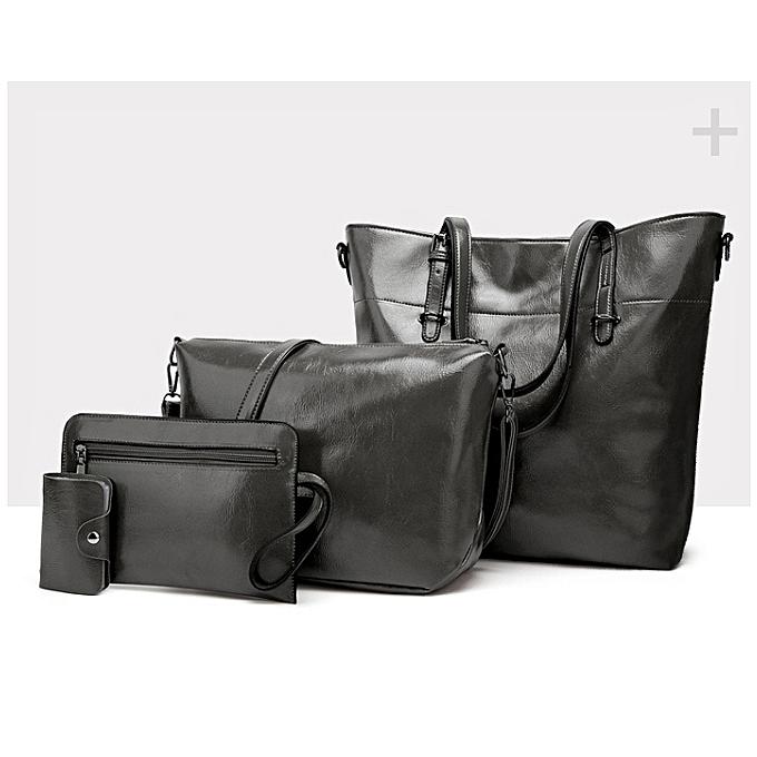 Generic 4 in 1Dark Grey Vintage Luxurious Handbag set   Best Price ... 984a6f65c3