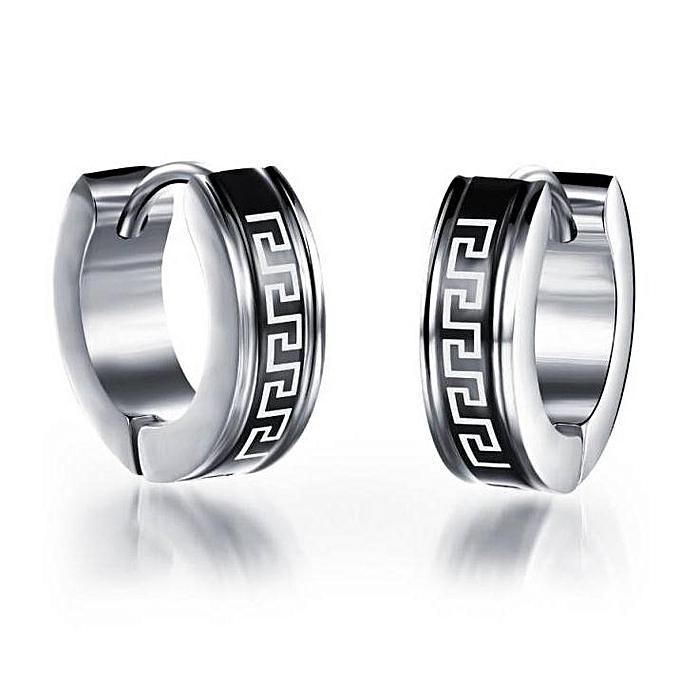 ff1bce092632d Big Hoop Earrings Black Earrings for Men Stainless Steel Earring Jewelry  Great Wall