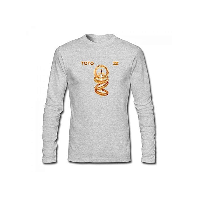 Buy Generic Toto Toto IV Men\'s Cotton Long Sleeve T-shirt Grey ...