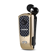 F PLUS Wireless Clip-on Bluetooth Headset-GOLDEN