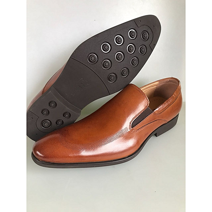 Buy Generic Brown Quality And Genuine Leather Official Men Shoes
