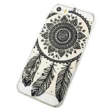 Black Transparent Dream Catcher Pattern Hard Case Cover For iPhone 5C-AS Shown