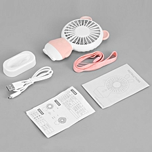 Mini Ultra-quiet Portable USB Charging Cooling Fan Colourful Night Lamp pink