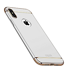 MOFI Three Stage Splicing Full Coverage PC Case for iPhone XS Max (Silver)