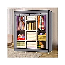 Portable Wardrobe - 3 Columns - Grey