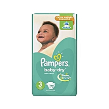 Diapers Baby Dry-Size 3-Jumbo Pack-Count 72