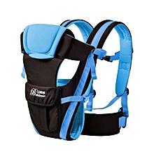 Multifunctional Ventilate Adjustable Buckle Mesh Wrap Baby Carrier Backpack(BLUE)