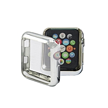 【42mm】TPU all-inclusive plating color soft protection Apple Watch Series 1/2/3 Case Scratch-resistant stylish Case Cover For Apple Watch Series 1/2/3  -Silver