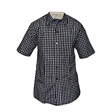 Black and White checked Slim fit Shirt