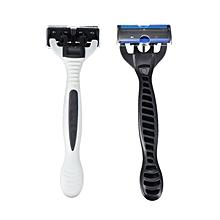 PearlMax Unisex 6 Layers Sharp Blade Shaver Razor Face Armpit Hand Leg Hair Removal Shaving Kit