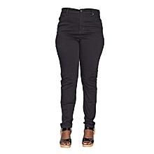 Black Ladies Stretch Pants - Black