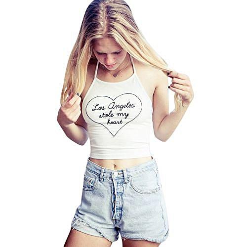 6ef2896f5a560 Fashion Wenrenmok Store Women Boho Tank Bustier Bra Vest Crop Top Bralette  Shirt Blouse Cami-White