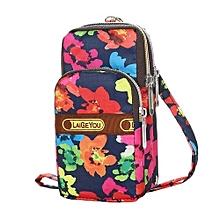 bluerdream-Fashion Leather Wallet Zipper Clutch Purse Girl Printed Floral Handbag Bag  I-As Shown