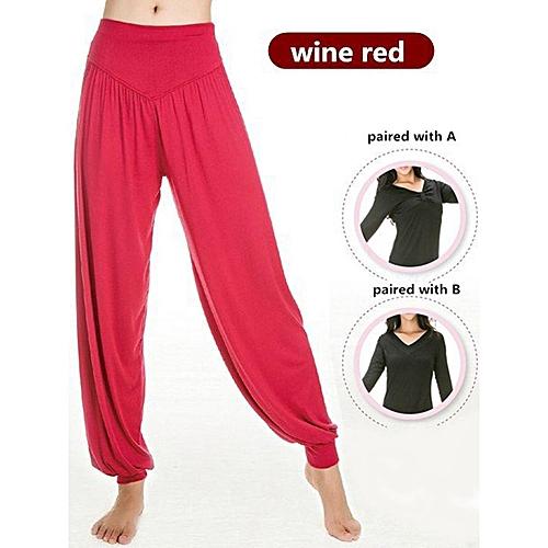ec7d516fd94a7 Women Professional Fitness Dancing Yoga Pants Jogging Running Sport Long  Trousers Loose Modal Cotton Sport Trousers