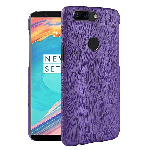 save off 5c6a7 b7b76 OnePlus 5T Case, [wood Texture] PU Leather + Hard PC Protective Case Cover  for OnePlus 5T
