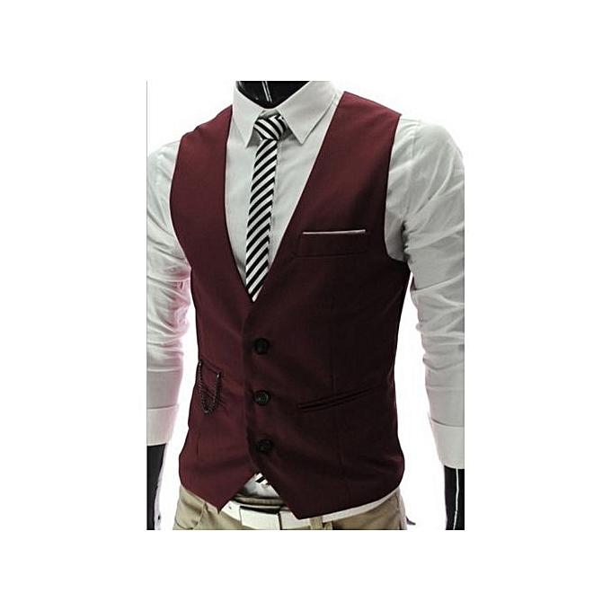 Buy Generic Grace Fashion Men Slim Fit Formal Casual Dress Vest Suit
