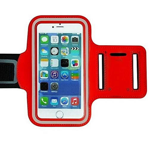 finest selection 31119 2166f Arm Band, IPhone 6 Plus Armband Slim Lightweight Sports Case With Key  Holder Scratch-Resistant Workout Arm Cover For Gym Running Cycling - Red