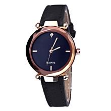 Analog Synthetic Leather Rhinestone Watchband Quartz Wristwatch-Array