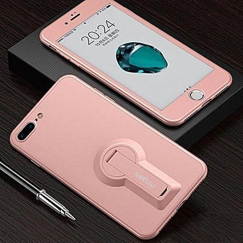 cheaper 9be50 b39a4 Luxury 360 Degree Full Cover Phone Case For IPhone 6 Plus / 6s Plus  Shockproof Soft Kickstand Cover Shell For IPhone 6 Plus / 6s Plus - Rose  Gold