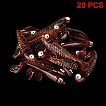 20 Pcs Soft Plastic Lures Fishing Bait Tail Capuchin Maggots Soft Tackle 5cm