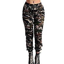 4c3861819af09 ZANZEA Pantalon Femme Military Camouflage Pants Women Printed Elastic Waist  Spring Summer Trousers Long Drawstring Pants