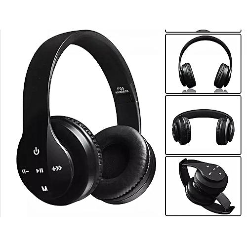 Big Wireless Bluetooth 4.0 Stereo Headphone Headset Earphone For Mobile Phones P35 - Black
