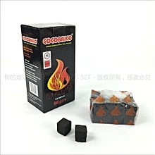 Charcoal Cubes Bricks for Incense Burning & Barbecue  (Pack of 96 Pieces) - Black
