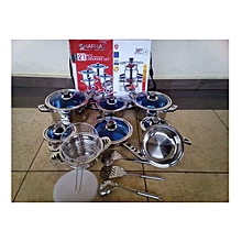 21 pieces cookware set- silver