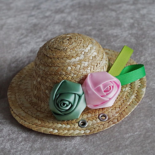Allwin Summer Trendy Pet Dog Cat Cool Straw Hat Sun Hats Puppies Pet  Accessories pink   blue rose M   Best Price  fc2f8e953707