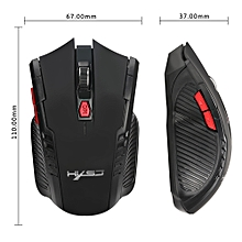 2400DPI 6 Buttons 2.4Ghz Mini Wireless Optical Gaming Mouse For PC Laptop BK