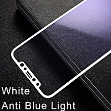 ( Anti-Bluelight ) For iPhoneX Baseus Screen Protector Tempered Glass Anti Blue Light For i10 iPhoneX 3D Frosted Soft Edge Toughened Glass Full Cover Protective Film for iPhone X - White MQSHOP