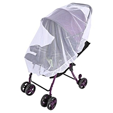 Baby Kids Stroller Pushchair Mosquito Insect Net Buggy Safe Protection Mesh Cover (White)
