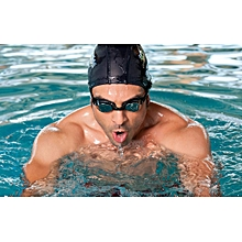 Water Resistant Silicone Swimming Cap Black